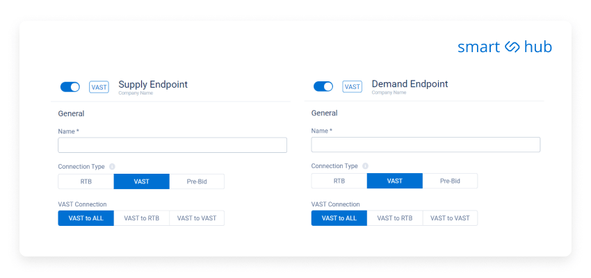 dashboard to add supply or demand endpoints